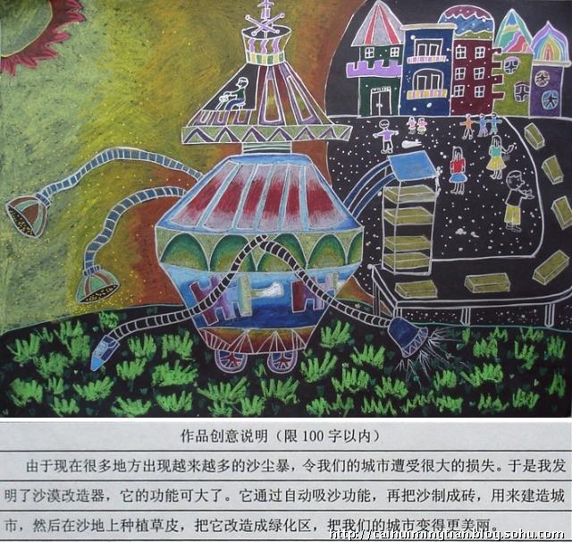 初中生科技创新大赛绘画作品展示图片