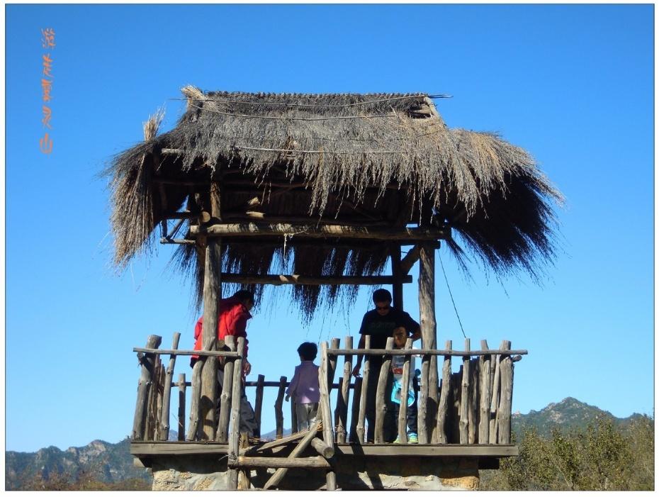 山上的茅草棚也成了孩子们喜欢的地方!&nbsp
