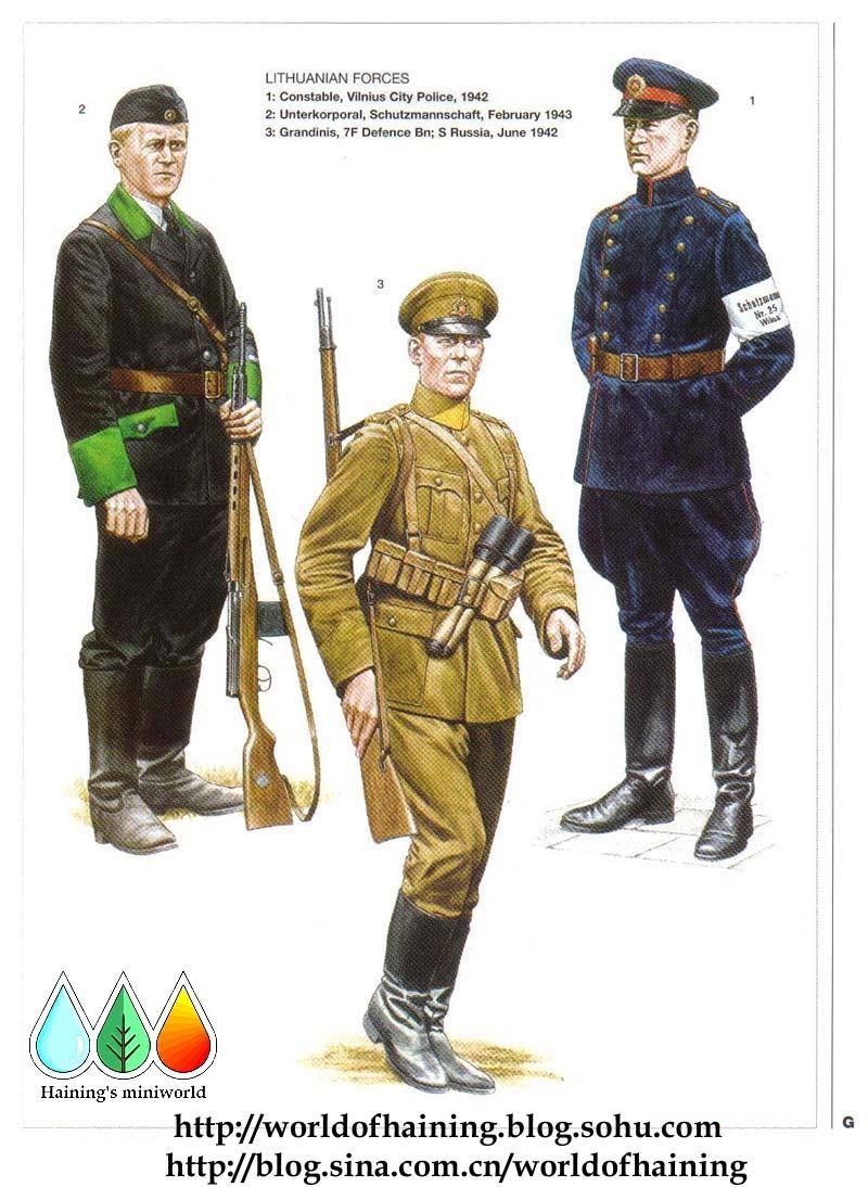 二战德国东线盟军军服图册(2)波罗的海各国军队