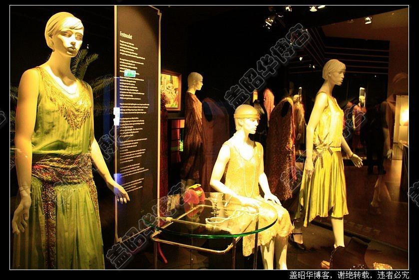 20年代的欧洲流行服饰,这些是从当年的商店橱窗原版复制出来的.图片