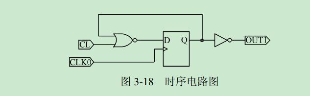 触发器的时序电路,试写出此电路的vhdl