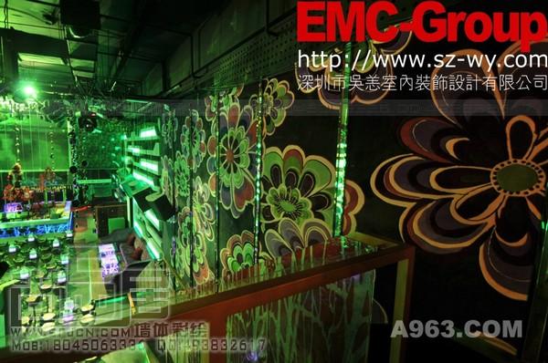 哈尔滨酒吧手绘墙画 尚品居作品—红森会会所天花彩绘