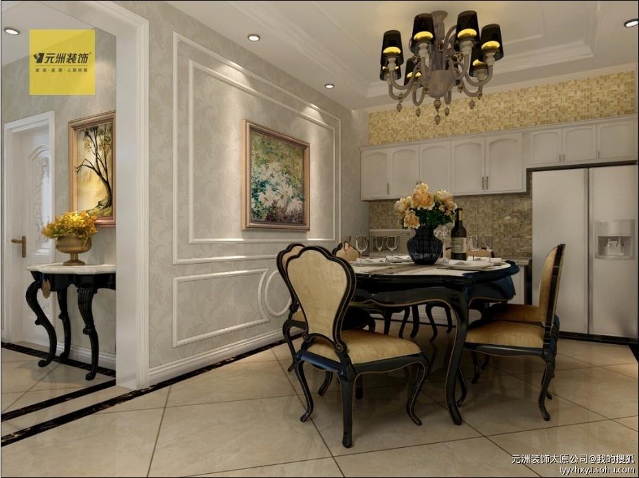 石膏线条造型淋漓精致的体现简欧风格的精华.   门厅:巧妙的