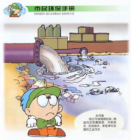 小学生保护河道宣传画