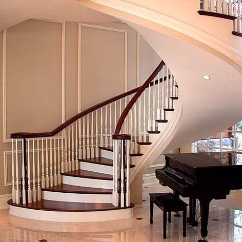 半圆楼梯效果图