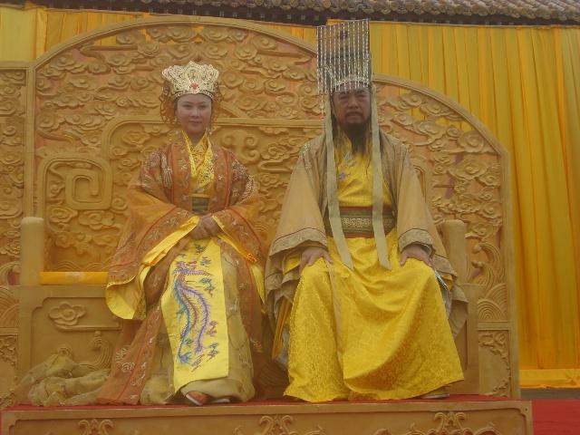 人皇伏羲 剧组在太昊陵拍摄剪影 情漫图片