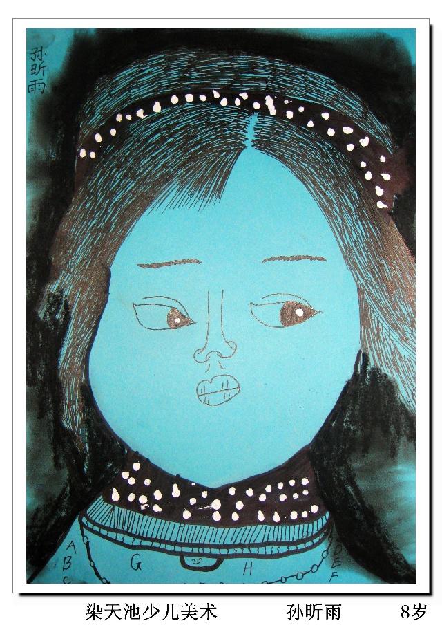 儿童人物线描肖像画 三