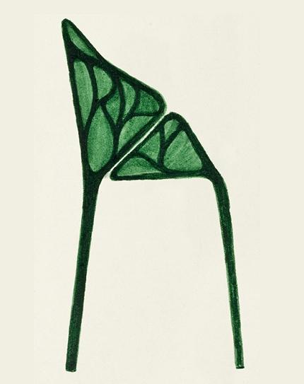 創意椅子手繪效果圖