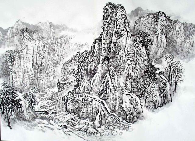 09年太行写生之十-张宇山水画艺术工作室-搜狐博客