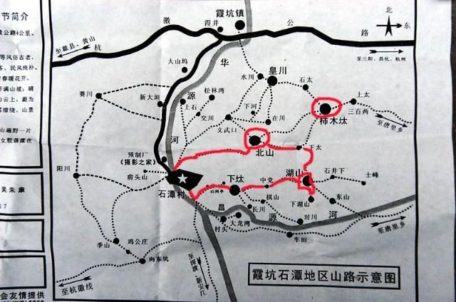 看下石潭的地图