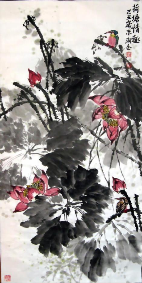 题冯羽白写意花鸟画诗六首