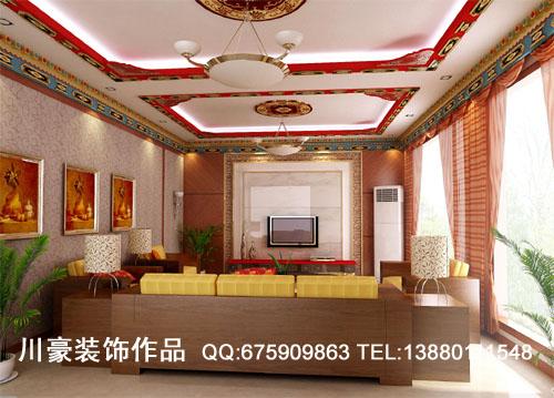 成都别墅办公空间家居装修 那曲藏式 其他风格 成都室内设