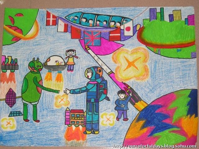 小学生科学幻想画参考资料-青苹果乐园-搜狐-小学生科学幻想画图片