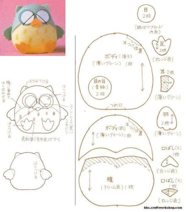 不织布小动物图纸-猪猪宝贝-搜狐博客