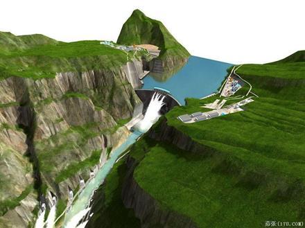 (图片541)白鹤滩水电站效果图.