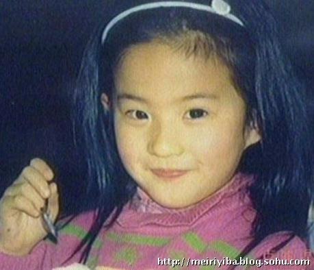 把我珍藏的一些刘亦菲小时候的照片也献给各位网友