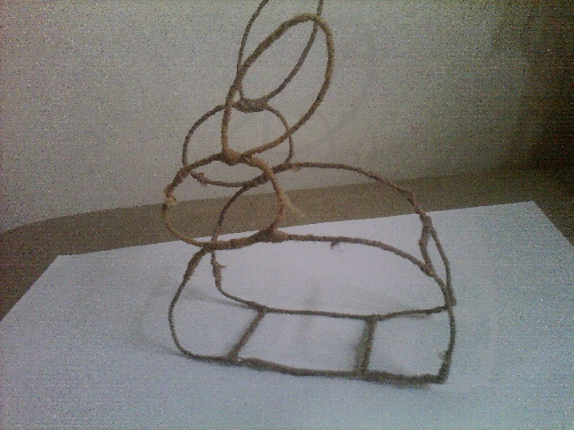 手工作品--小兔子灯笼