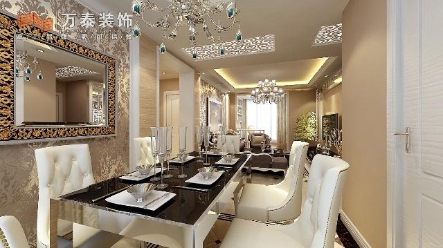 万泰装饰名士豪庭两室两厅装修设计效果图 济南装修公司万
