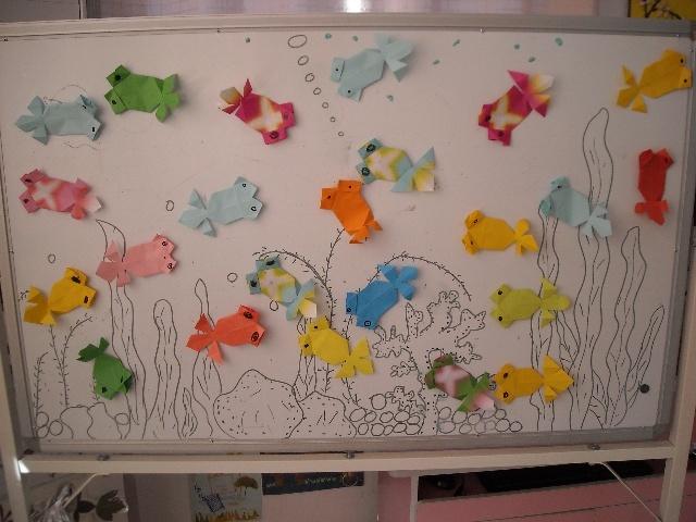 折纸动物粘贴画