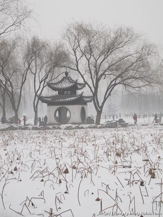 素描风景雪画步骤