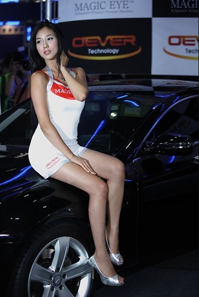 韩国车模图片 美女车模