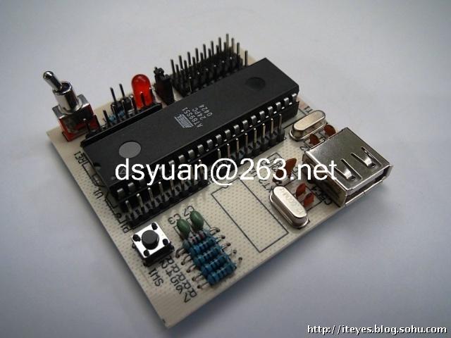 《学用单片机制作机器人》usb-isp编程电路方案