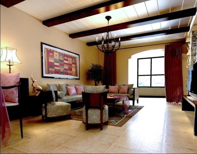 美林君渡97平米2居室东南亚简约风格 实创装饰装修