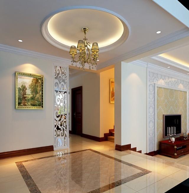 design 别墅客厅地面拼花效果图 设计本装修效果图  简约门厅地砖拼花图片