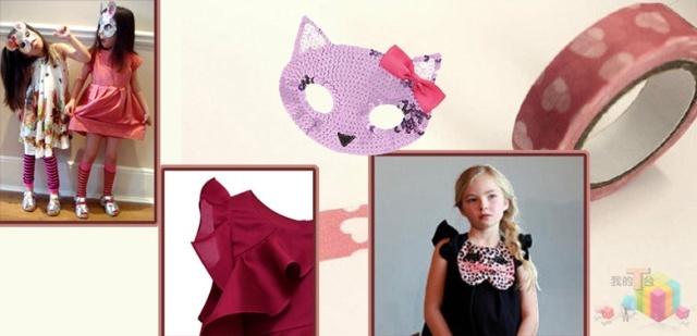 甜美粉蜡色和可爱小动物图案带着穿着者开始一段奇异的旅行.