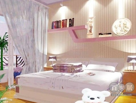 暖色家居效果图 看80后美女温馨卧室