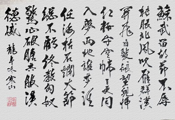 苏武牧羊/激扬文字(三) 北海心随寄雁苏,南飞夜幕旧为奴.
