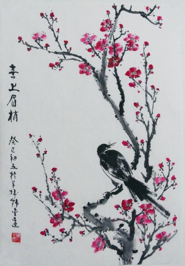 简单的梅花国画