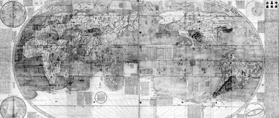 揭秘首份中文世界地图