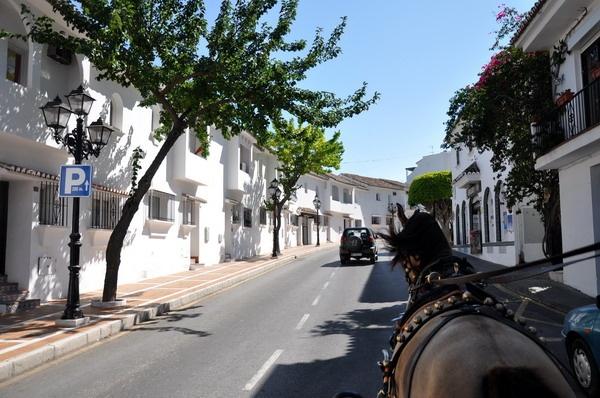 小镇街道风景彩铅