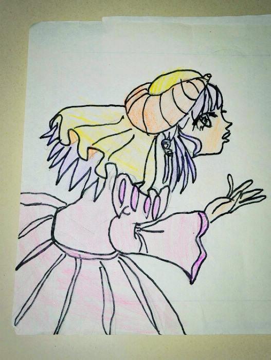 很赞如妞的简笔画,这美女画出 好多时候都是自己随便找些废纸张