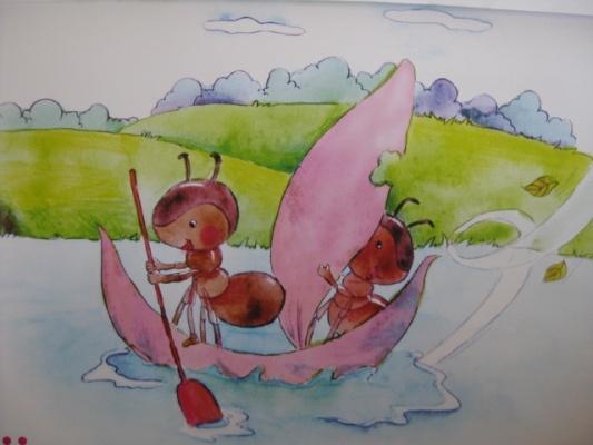 幼儿园春游简笔画图片红色的