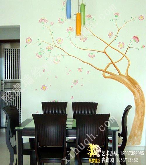 (图3:装修 手绘 墙画 餐厅 装饰); 郑州墙绘 郑州熙虎墙绘 郑州手绘墙