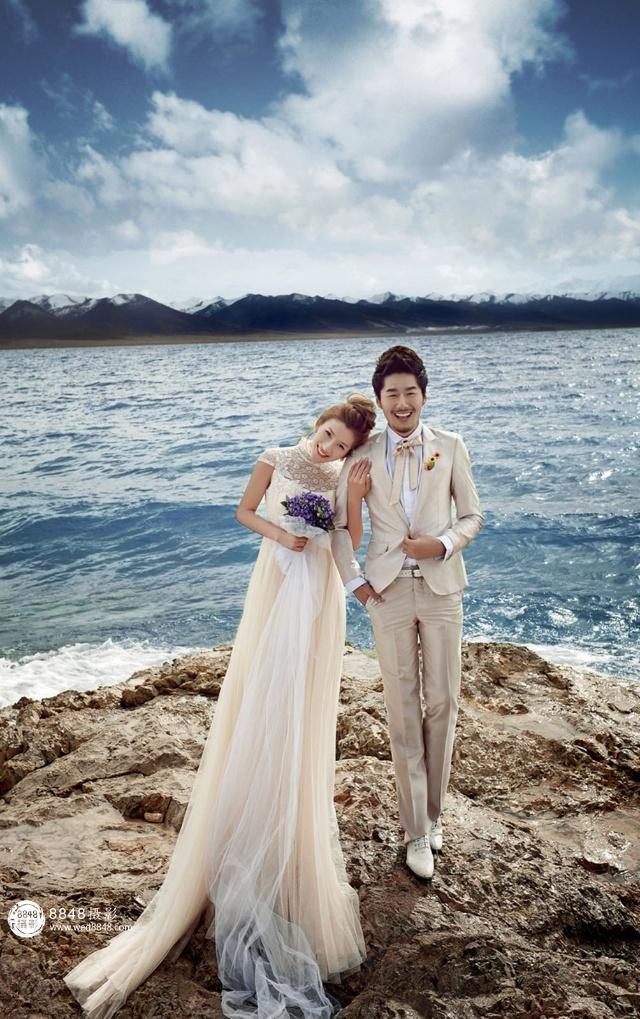 在纳木错拍婚纱照,拍出大海的感觉