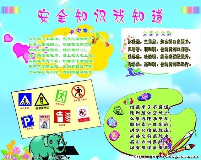 安全知识我知道-天津市红桥区第十八幼儿园